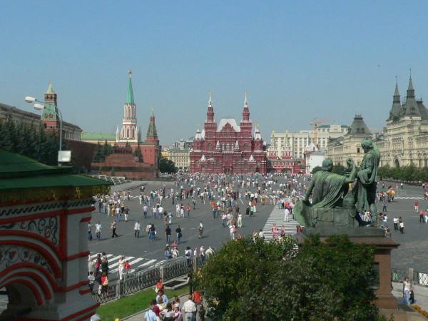La Place Rouge vue de la cathédrale Basile